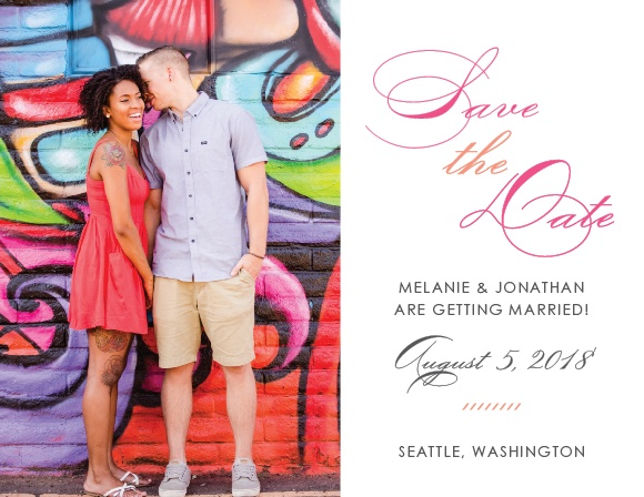 Modern Script Save-the-Date Cards