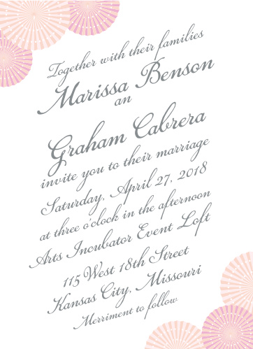 Enjoy the company of your friends and family when you use Paper Rosettes Wedding Invitations to invite them.