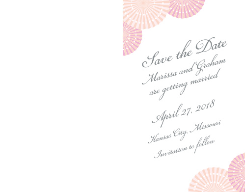 Ensure that your friends and family know when your wedding will be using the Paper Rosettes Save-the-Date Cards.
