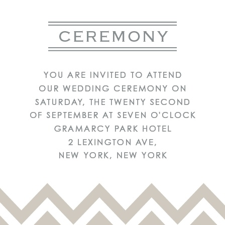 Place to Be Ceremony Cards