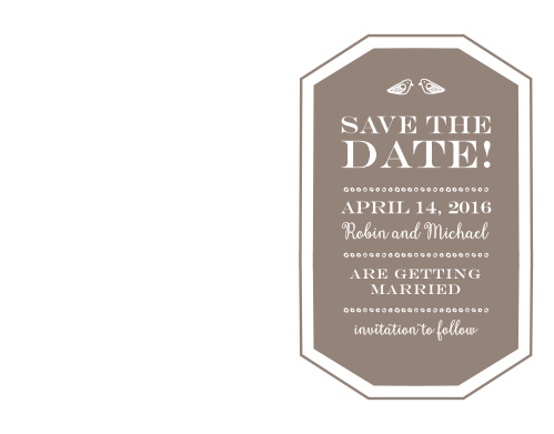 Your loved ones won't be able to resist coming to your wedding when you give them the heads up with the Rustic Barn Save-the-Date Cards.