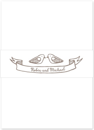 The Rustic Barn Belly Bands are the perfect accessory to tie together the rest of your wedding suite.