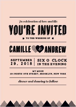 Rough Diamond Wedding Invitations
