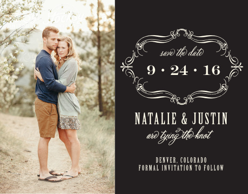 Ensure that your friends and family know when your wedding will be using the Ex Libris Save-the-Date Cards.