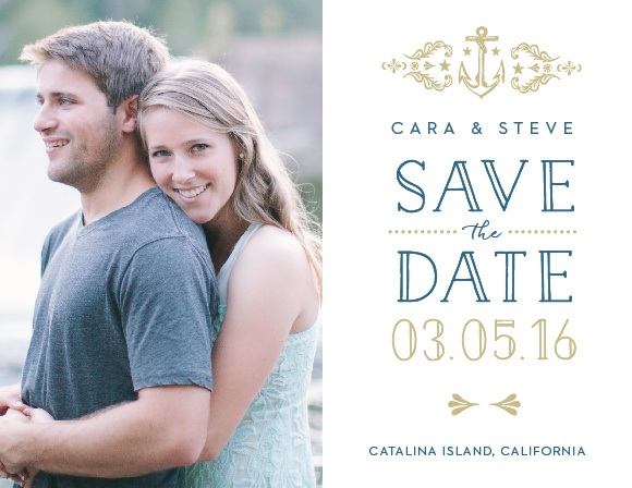 High Seas Save-the-Date Magnets