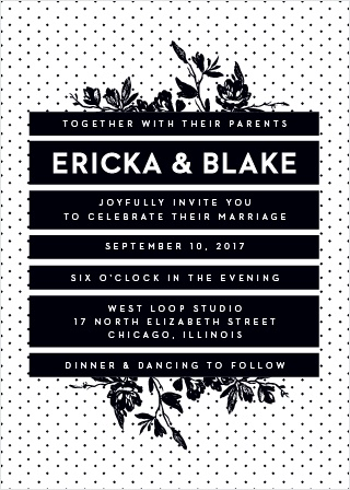 High Contrast Wedding Invitations