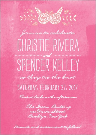 In Bloom Wedding Invitations