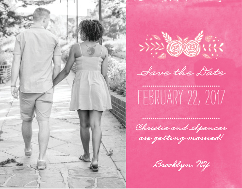 Ensure that your friends and family know when your wedding will be using the In Bloom Save-the-Date Cards.
