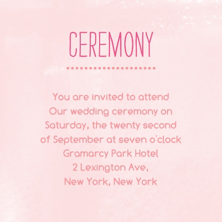 In Bloom Ceremony Cards