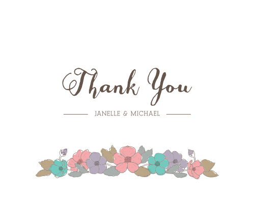 proper painterly thank you cards