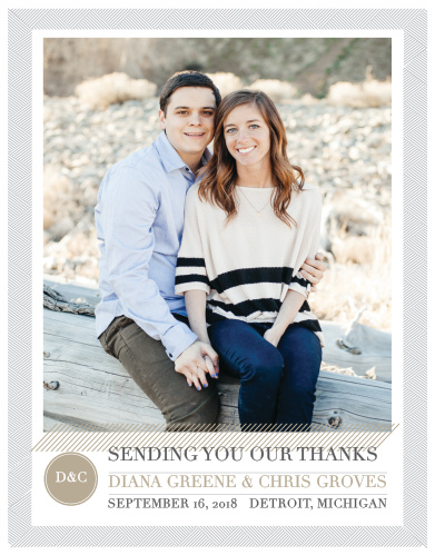 Our Simply Modern Wedding Thank You Cards are a part of the Love Vs. Design collection by Basic Invite.