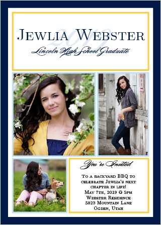There is no better way to show off your graduate with The Moving On Graduation Announcement.