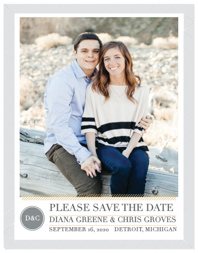 Our Simply Modern Foil Save-the-Date Magnets are a part of the Love Vs. Design collection by Basic Invite.