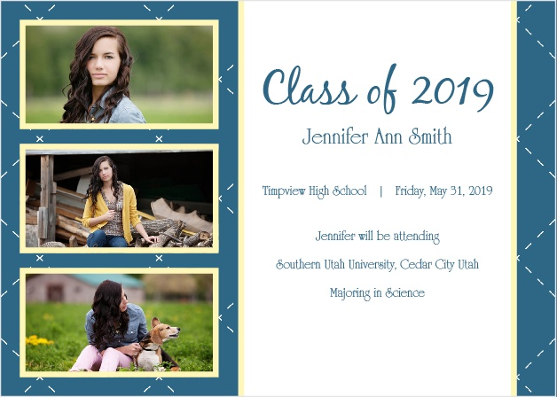 The Year Of Memories Graduation Announcement can be changed to fit any style.