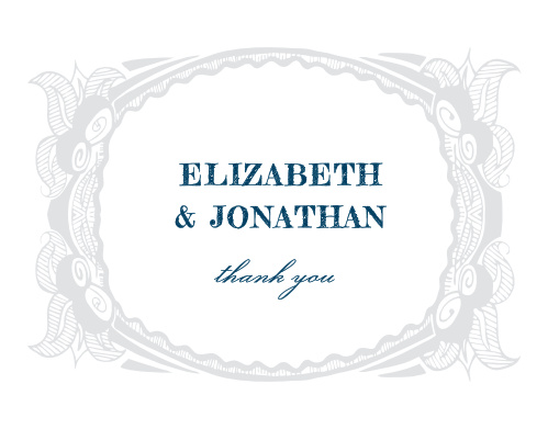 Make sure your guests know how much you appreciate them using the Botanic Border Thank You Cards.