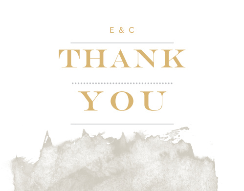 Make sure that your guests understand how much you've enjoyed their presence with our Modern Gold Foil Thank You Cards.