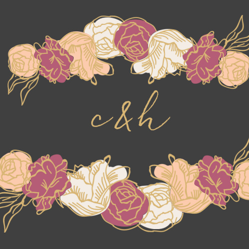 Stunning, multi-colored, rose blooms with gold foiled accents adorn the Elegant Blooms Foil Wedding Stickers.