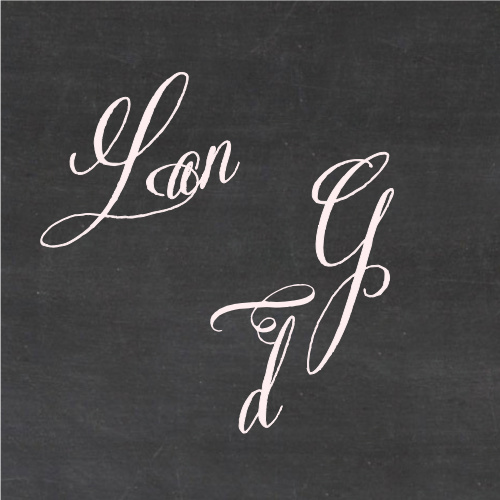 Use the Elegant Chalkboard Wedding Stickers to finish off your Wedding Suite.