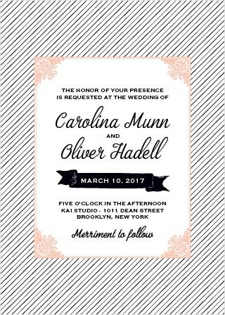 Fine Line Wedding Invitations