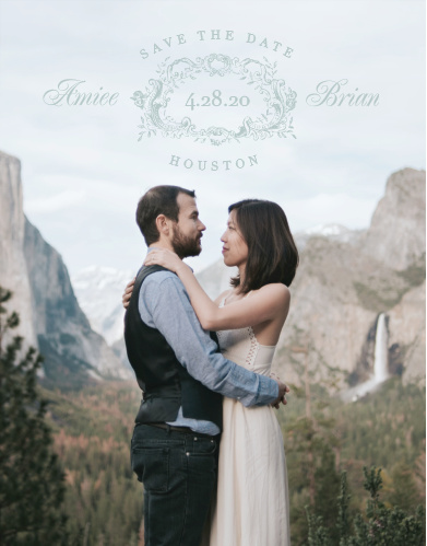 Ensure that your friends and family know when your wedding will be using the In Cursive Photo Save-the-Date Cards.
