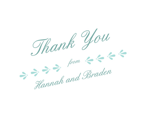 Make sure your guests know how much you appreciate them using the Fresh Breeze Thank You Cards.