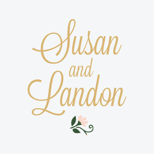 The Laurel Crown Foil sticker design features a delicate floral bundle to represent your continually blossoming love for each other.