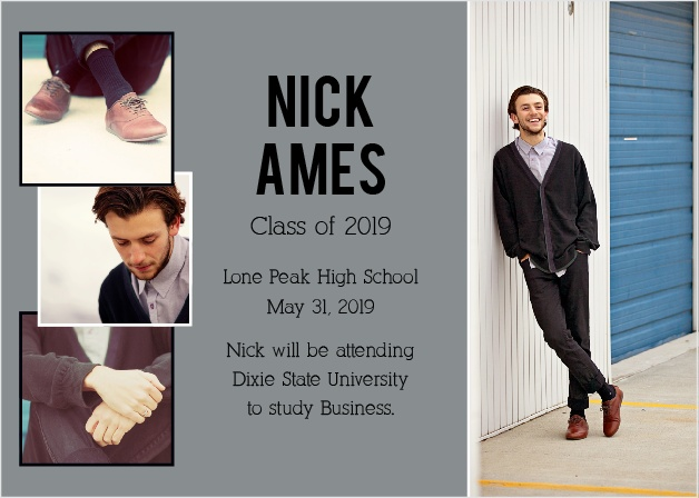 The Picture Stack Graduation Announcement is the perfect way to show off your graduate.