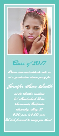 The Senior Headlines Graduation Announcement is a simple elegant design.