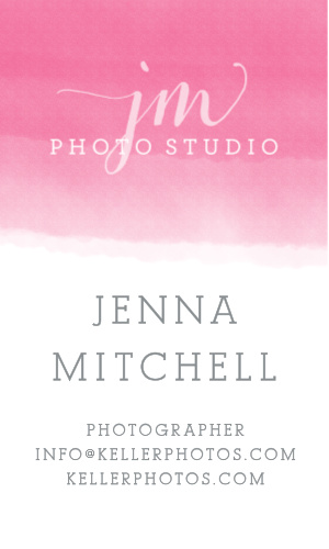 The Ombre Logo Business Cards' trendy design makes your information pop.