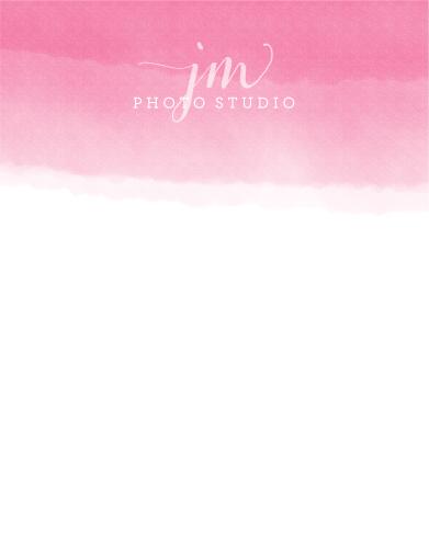 A trendy watercolor wash makes your logo pop with the Ombre Logo Business Stationery