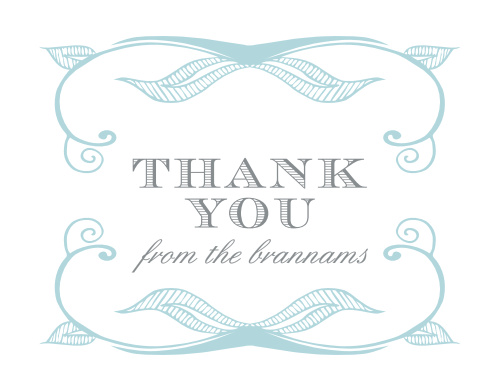 Make sure that your guests feel appreciated after the fact with our beautifully designed Hand Drawn Frame Thank You Cards.