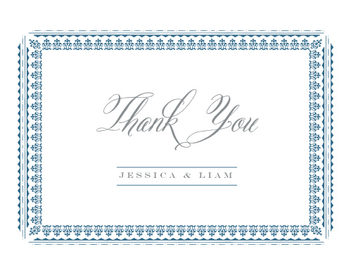 The Elegant Frame Thank You Cards intricately frame your gratitude.