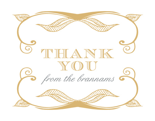 Make sure that your guests feel appreciated after the fact with our beautifully designed Hand Drawn Frame Foil Thank You Cards.