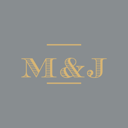 A classic-gray background offers a gorgeous contrast for your initials, which we've printed in a scored-style typeface in a shining gold-foil, on our Hand Drawn Frame Foil Wedding Stickers.