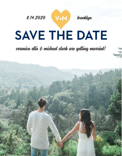 Ensure that your friends and family know when your wedding will be using the Common Thread Save-the-Date Cards.