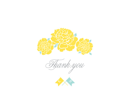 Make sure your guests know how much you appreciate them using the Say Yes Thank You Cards.