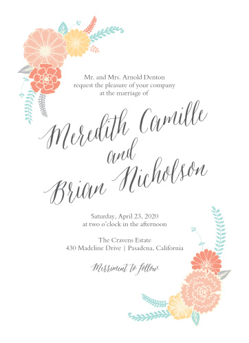 Our Sweet Bloom Wedding Invitations are as bright, cheerful, and lovely as your wedding itself!