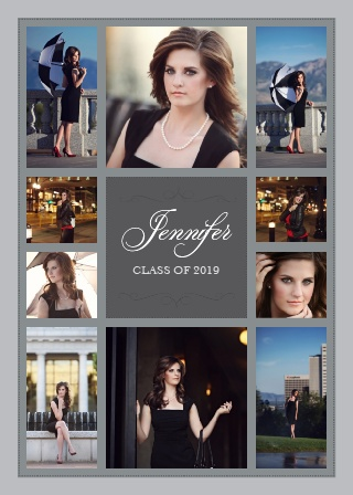 The Sophisticated Collage Graduation Announcement is the epitome of class and style.