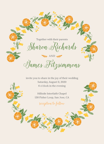 Your guests will adore the Vintage Blossom Wedding Invitations once they receive them.