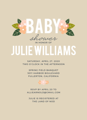 Our Herbaceous Babe Baby Shower Invitations are a perfect fit for the party you have planned.