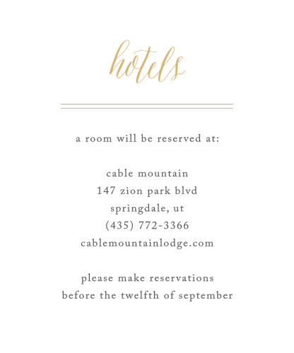 customizable wedding accommodation cards by basic invite