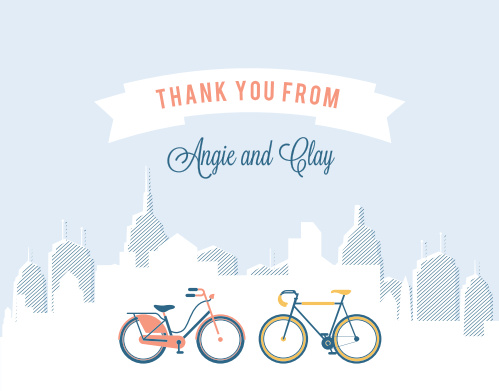 city life thank you cards