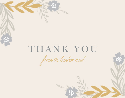 Glimmering Garland Foil Thank You Cards are perfect for expressing what you need to once the festivities have come to a close.