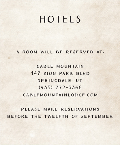 Make sure your guests know the best places to stay when they attend your wedding using the Rustic Heartchery Accommodation Cards.