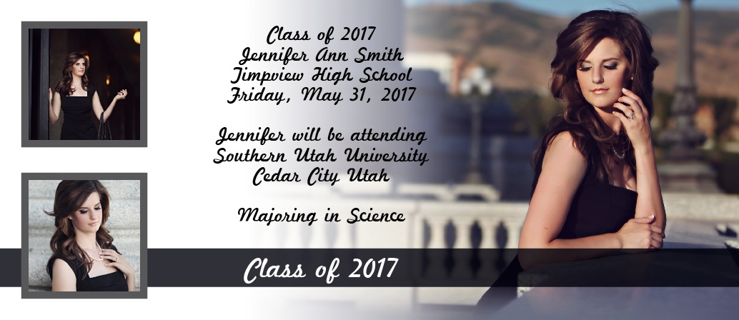 The Photo Fade In Graduation Announcement is a one of a kind invite that can be personalized to fit any graduate's style.