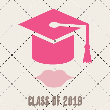 The Lips Gradation Cap Graduation Announcement is a fun double sided square card that is perfect for your graduate.