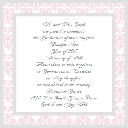 Elegantly Framed Graduation Announcement