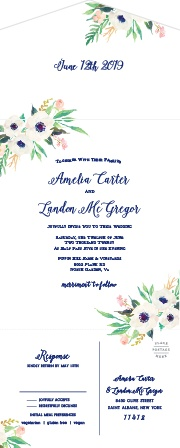 Invite guests to celebrate your union with the Watercolor Anemone Seal & Send Wedding Invitations at Basic Invite.