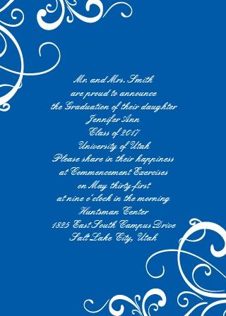 Senior Swirls Graduation Announcement