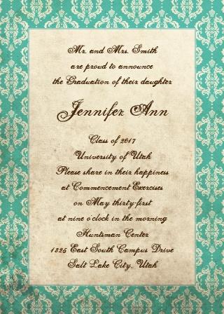 Vintage Honors Graduation Announcement